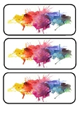 Water colour desk labels