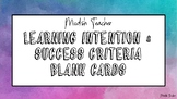 Water colour learning intention & success criteria  template
