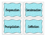 Water cycle flash cards/ vocabulary cards