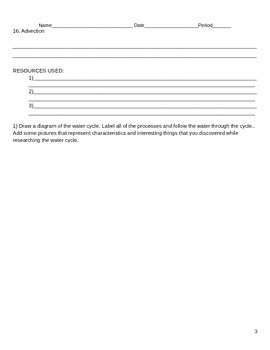 Water cycle research and study guide