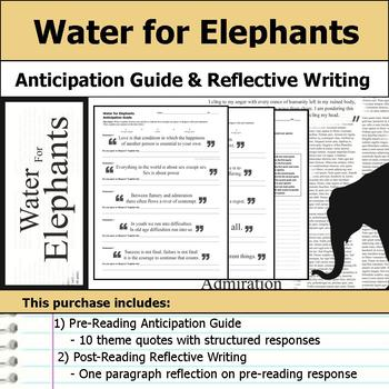 Water for Elephants - Anticipation Guide & Reflection Writing