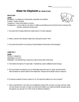 Water for Elephants Guide Questions