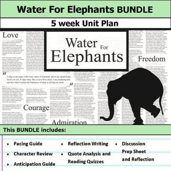water for elephants unit by s j brull  teachers pay teachers