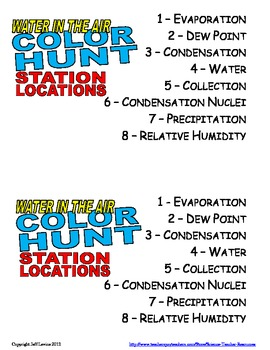 Water in the Air Color Hunt Review Game