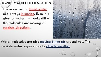 Water in the Atmosphere Power Point w/Student Notes