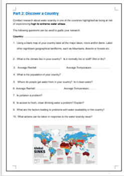 Water in the world: Water Scarcity Assignment