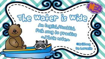 Water is Wide - English/Scottish Folk Song - Whole Note