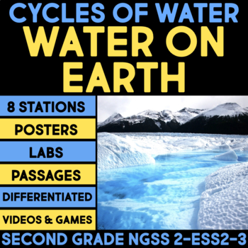 Water on Earth - Cycles of Water BUNDLE - Second Grade Science Stations