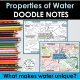 Properties of Water Doodle Notes