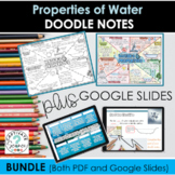Water's Properties Doodle Notes PLUS Google Slides Add On