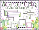 WaterColor Cactus Classroom Decoration Pack