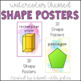 Watercolor 2D and 3D Shape Poster Packet