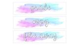 Watercolor 3-Drawer Sterilite Labels NONEDITABLE