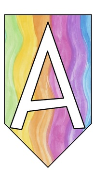 Watercolor: A-Z Banner