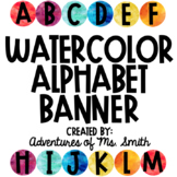 Watercolor ABC Banner