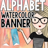 Watercolor Alphabet Banner - Watercolor Classroom Decor