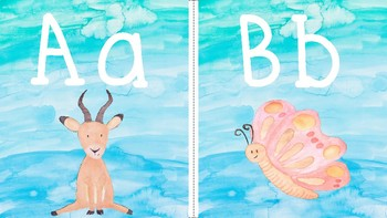 Watercolor Alphabet Cards
