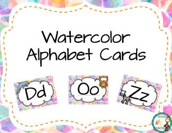 Watercolor Alphabet Cards