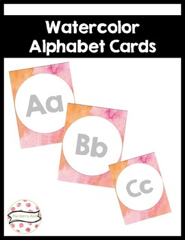 Watercolor Alphabet Cards wall cards