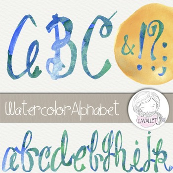 Watercolor Alphabet Clip Art
