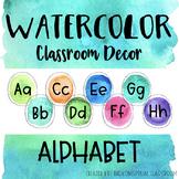 Watercolor Alphabet Letters - Posters
