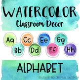 Watercolor Alphabet Letters - Posters