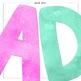Watercolor Alphabet Letters - Clip Art