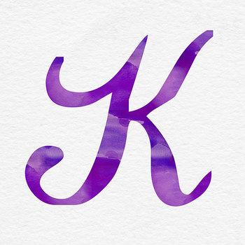 Watercolor Alphabet, PNG Purple Letters