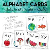 Watercolor Alphabet Picture Cards