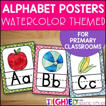 Watercolor Alphabet Posters
