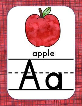 Watercolor Alphabet Posters