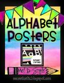Watercolor Alphabet Posters (Color Splash Series)