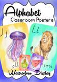 Watercolor Alphabet Posters (US, UK, Intl. English) ELA Fu