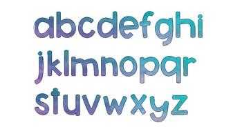 Watercolor Alphabet Set