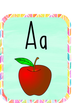 Watercolor Alphabet Wall Cards