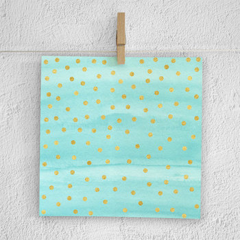 Watercolor And Gold Confetti Digital Paper