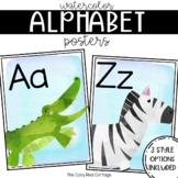 Watercolor Animal Alphabet Posters