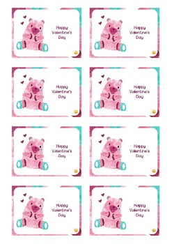 Watercolor Animal Valentine's Cards - English & Spanish