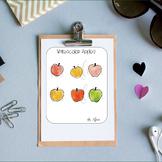 Watercolor Apples Teacher Planner Stickers