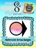 Watercolor Arrow Badges