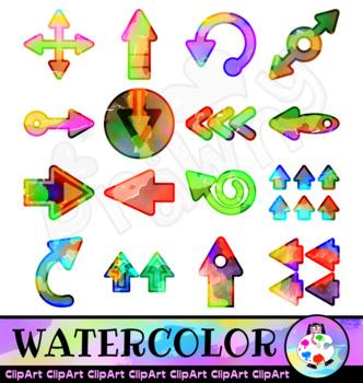 Watercolor Arrow Clip Art