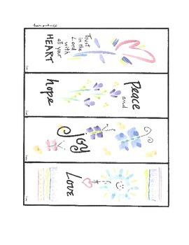 Watercolor Art Bookmarks