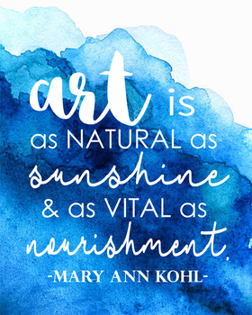 Watercolor Art Quotes Poster Set