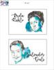 Watercolor Artist Portrait Labels - EDITABLE
