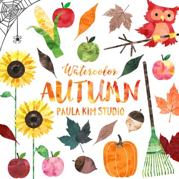 Watercolor Autumn Clip Art