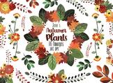 Watercolor Autumn Floral Clipart