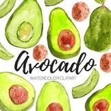 Watercolor Avocado Clipart