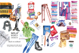 Watercolor Back to school clipart