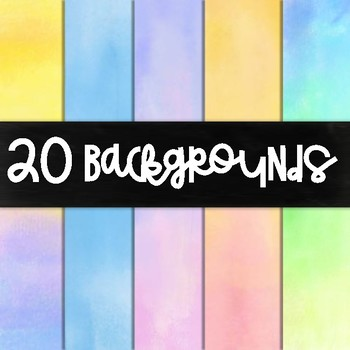 Watercolor Background Bundle/ Digital Paper  (Volume 1)