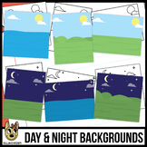 Day and Night Background Scenes Clip Art